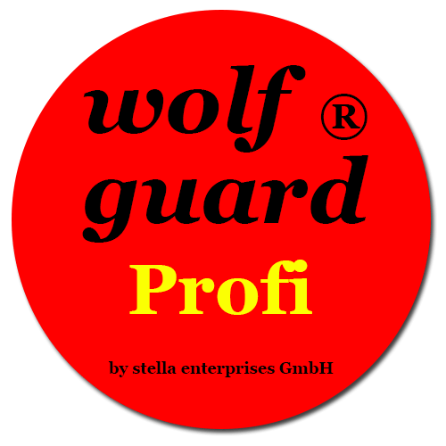 10.000 wolf guard® Profi Sticker